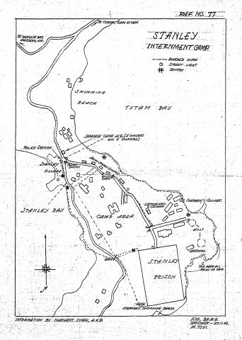 Map of Stanley Civilian Internment Camp