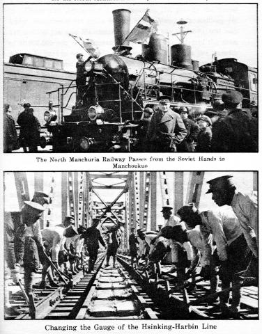 South  Manchuria  Railway- Change of  Russian Track Gauge  in 1936