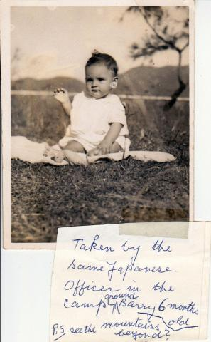BARRY CLARKE TANNER, STANLEY INTERNMENT CAMP AUGUST 1944