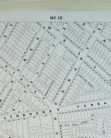 1897 map of Cochrane Street