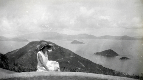 View of Mt Davis looking West from Pinewood Battery 1920s