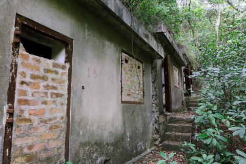 Military Shelters at Pokfulam Reservoir - Structure D at lower level