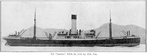 S.S Laertes - The Far Eastern Review Jan. 1921