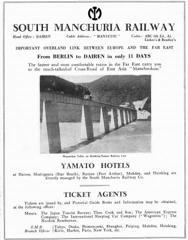 South Manchuria Railway - Avertisement - Overland Route -