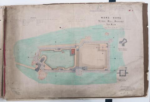 Plan of Saiwan Redoubt