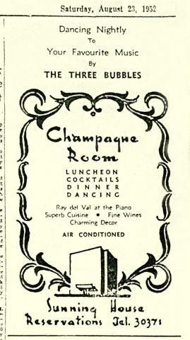 Sunning House Hotel-Champagne Room-advert