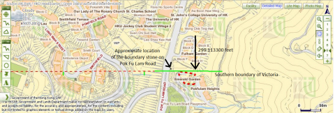 The University of Hong Kong's St John's College and Victoria's southern boundary