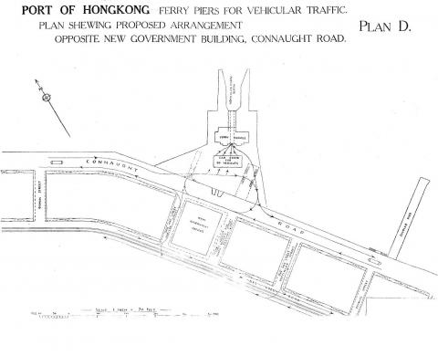 Vehicular Ferry Pier Central:  Plan 1928