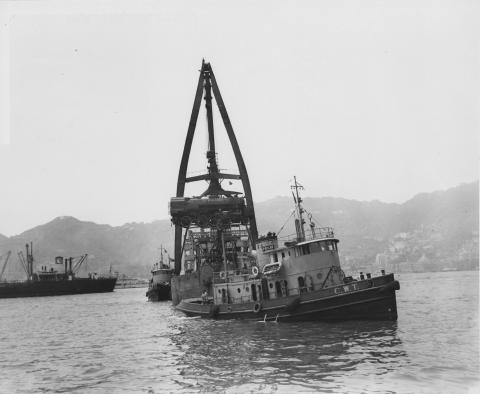 Unloading Locomotives in Hong Kong