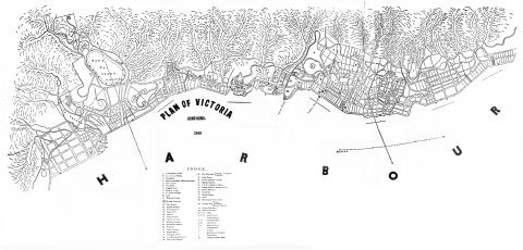 Victoria-Harbour - map of 1866