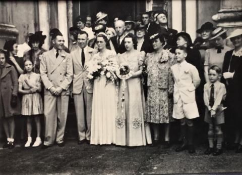 Wedding at Cathedral 1939/1940