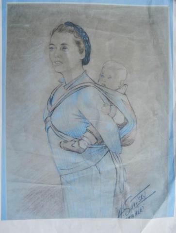 Z8. A J Savitsky sketch of the baby sling in use.jpg