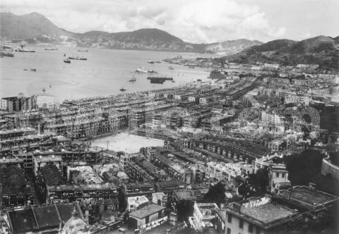 c.1950 view across Wanchai