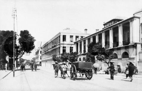 "c.1901 - ""The Naval Department Buildings, Queen's Road"""