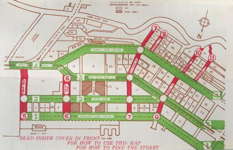 1957 Map of Central