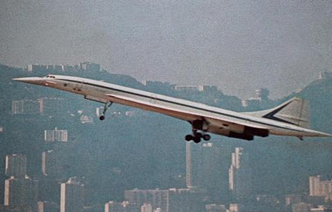 Concorde's first visit to Hong Kong-harbour low level fly-by-1976