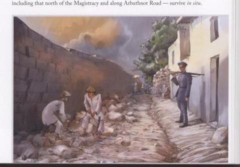 p.185 - Convicts carrying boulders in Chancery Lane in 1862