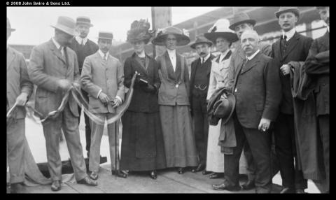 Launch of the ship Circe