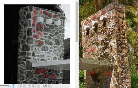 Comparative analysis of Yick Yuen stone wall