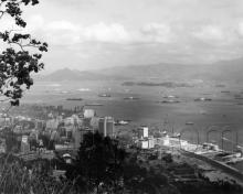 c.1963 View over Admiralty and Central towards Stonecutters Island