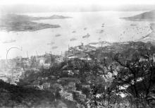 c.1927 View over Central, Tamar, and harbour