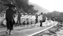 c.1930 Funeral procession along Gap Road