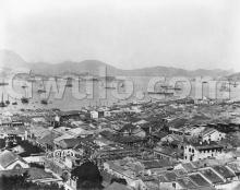 1880s view over Tai Ping Shan to harbour