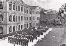 A parade at Central Police Station, 1890