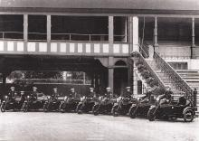 Traffic police officers inside the Hong Kong Jockey Club, 1925