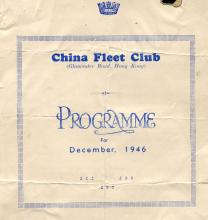 Hong Kong China Fleet Club Programme 1946