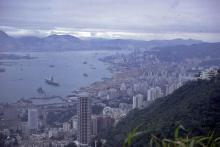 The view from the Peak early 70's Hong Kong (1)