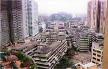 Looking southwest from Lung Fai Building in Wong Tai Sin in 1990