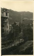 Post card showing Peak Railway 1929 Hong Kong