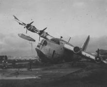 Typhoon damage at Kai Tak airport (3)