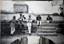 Hong Kong, group of young men relaxing, ca. 1900