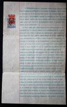 Official deed Holland-China Trading Company installing W. Kien as representative, 1903