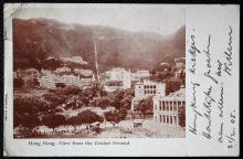Postcard Hong Kong - Hong Kong View from the Cricket Ground, 1905