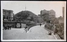 "Postcard Hong Kong - The Peak, H.K. sent 20 Jan 1936, ""The Mount"" and ""Modreenagh"" buildings"