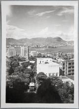 Postcard Hong Kong: view from Peak mid levels, ca. 1950