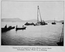 Netherlands Harbour Works Co.: Construction of quaywall at Hong Kong, ca. 1925