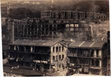 1934 big fire after explosion at gas works