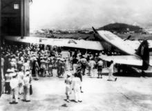 1938 Air France Dewoitine 338 at Kai Tak