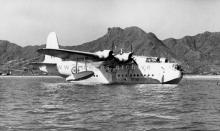 1940s Short Sunderland Flying Boat at Kowloon Bay