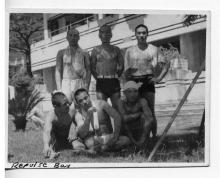 Japanese soldiers relax in Repulse Bay