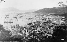 Wan Chai, Causeway Bay, and North Point, taken from Kennedy Road, in 1924.