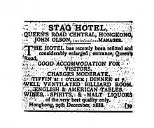 1888 Stag Hotel - John Olson is manager