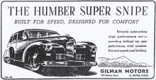 Gilman Motors advert 1952