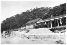 Aug 36, post-typhoon. Gun sheds, Stonecutters