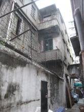 View from side alley