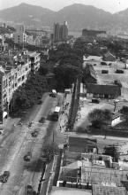 1950s view southwards along Nathan Rd from Shamrock Hotel
